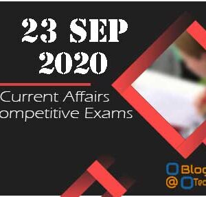 Daily Current Affairs Quiz 23-Sep   Today top 15 MCQ With Detailed Explanation