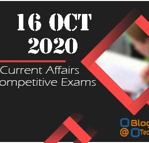 Today 16 Oct Current Affairs Quiz | Today Top 15 MCQ With Detailed Explanation