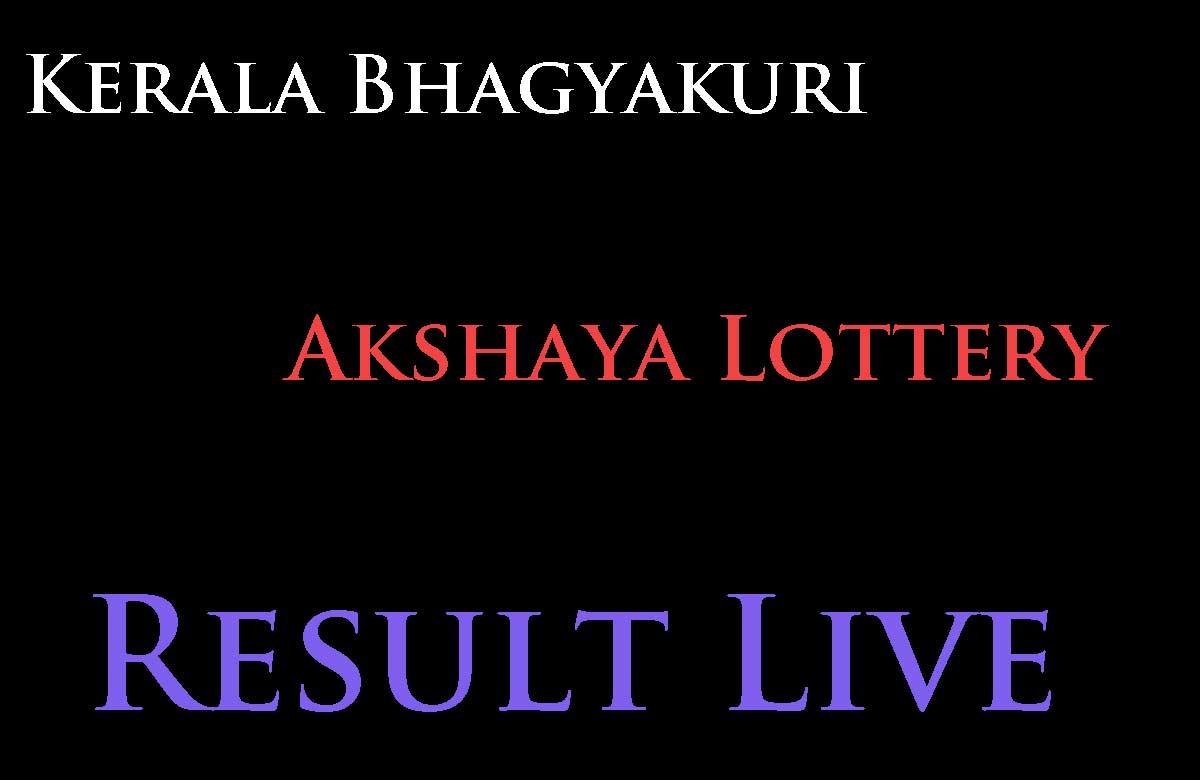 Kerala Bhagyakuri Akshaya Lottery Result