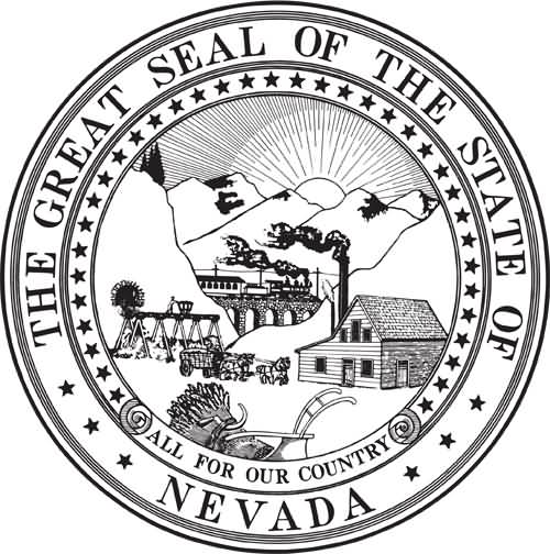 The Great Seal Of The State Of Neveda happy Nevada Day