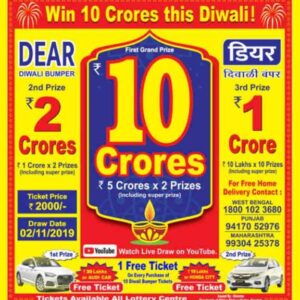 Check: Dear Sikkim Diwali Bumper 2020 Lottery Result 15-11-2020 Sikkim State Lottery Results Today