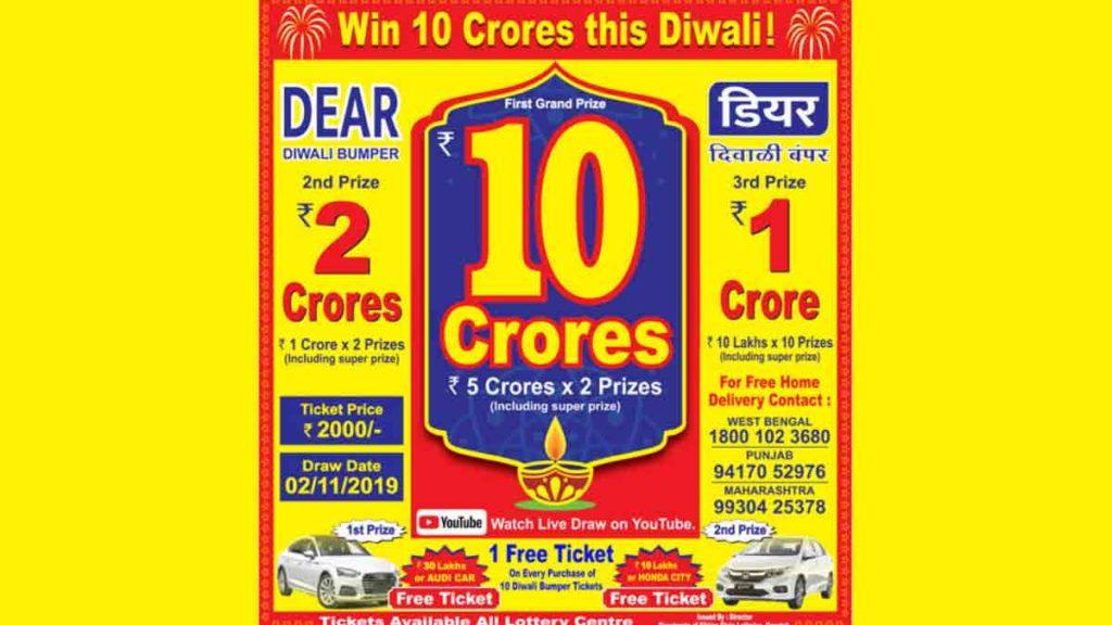 Sikkim Dear Diwali bumper Lottery Result