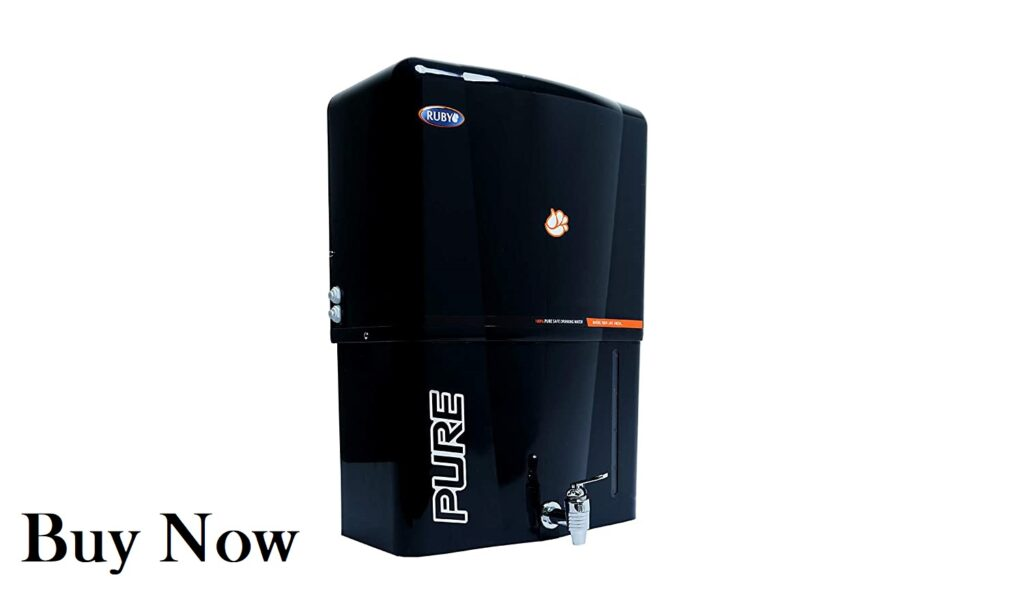 Ruby Alkaline Black Water Purifier with Copper + RO + UF + UV + TDS Control 12 Litres
