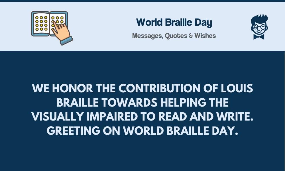 world braille day wishes