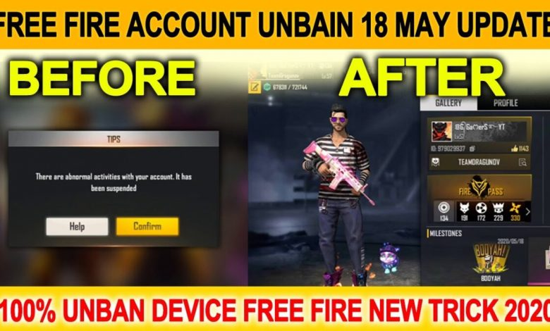 how to unban free fire account